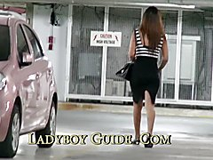 Car Park Thailand Ladyboy Pickup  - clip # 02