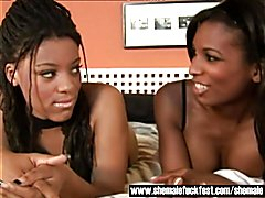 Black Shemale Natasha and MIss Brazil -  Shemale Fuck Fest  - clip # 02