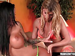 Shemale Angelina Torres fucking Angelina Valentine  - clip # 03