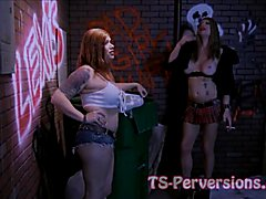 She-Male Prostitute Lesbians Kimber and Raven