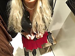 Stefani Boots real chastised CD bimbo whore  fitting room