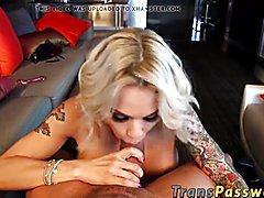 Monster pecker destroys the phat booty of lovely t-girl