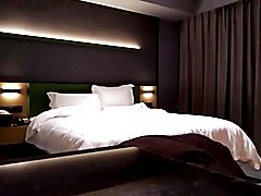 Oriental crossdresser dominated by old dude in hotel room
