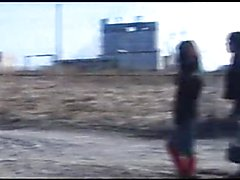 Outdoors sex in Chernobyl