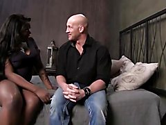 The sublime black TRANSSEXUAL Patra Von Tesse fucks a lucky man