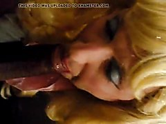 Cd sissy Annette takes on two cocks 1of3