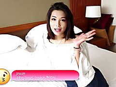 Helloladyboy petite cute from thailand asian shemale deep throats b