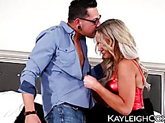 Gorgeous transsexual kayleigh coxx hammered and creamed