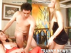You can fuck my sultry tranny friend  - clip # 02
