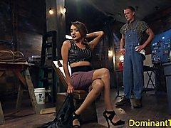 Transgender dom butt fucks sub before ejaculation  - clip # 02