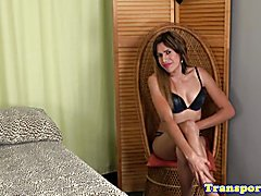Solo latina tranny fingering her ass  - clip # 02