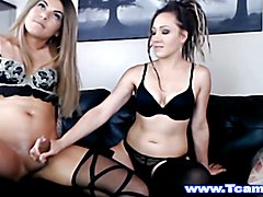 Horny Blonde Female Slurps T-Baby Dick