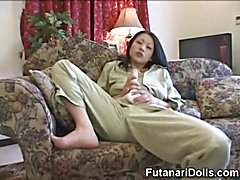 Futanari Huge Cum Squirting!