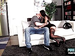 Gia cruz sexy tattoo shemale rocks barebacking dick