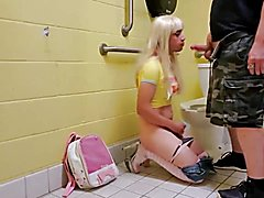 Cd abused hard in public bathroom