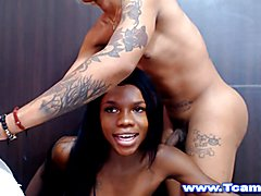 Two Excited Trannies Fucking Hard on Webcam