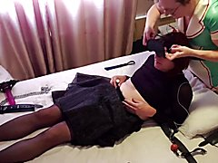 Tranny whore lucy gets pegged by latex nurse essex baby lisa