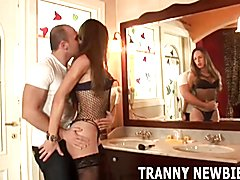 I want you to suck my big hard tranny cock  - clip # 06