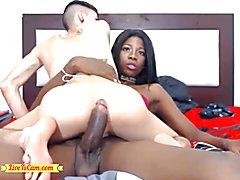 Guy enjoys riding sultry massive ebony penis ladyboy -