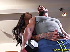 Dominating ts fucks guys ass in the gym  - clip # 02