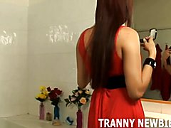 You are going to love the taste of my tranny cock  - clip # 02