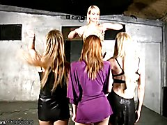 Teen blonde shemales fuck anal doggystyle in wild foursome  - clip # 02