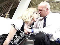 Obedient t-girl maid does what she is told