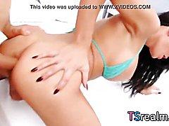 T-Girl stunner kimberlee gets her butt pounded