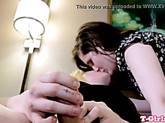 Chubby twosome t-girl gets prick pleasured