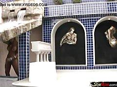 Full video of latino ladyboy tugging schlong and squirting jizz